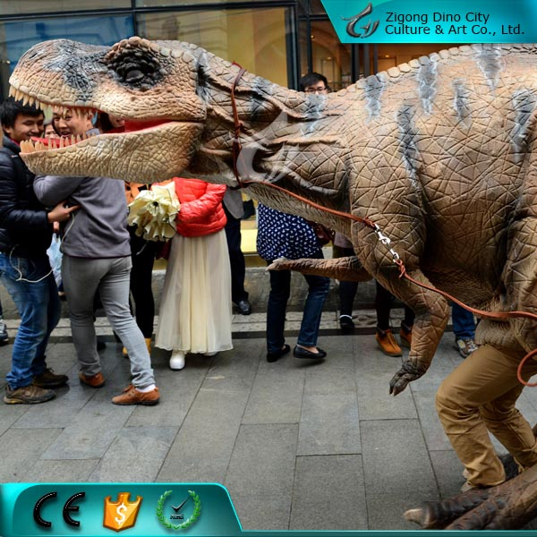 Simulation Adult Walking Dinosaur Costume for Amusement Park