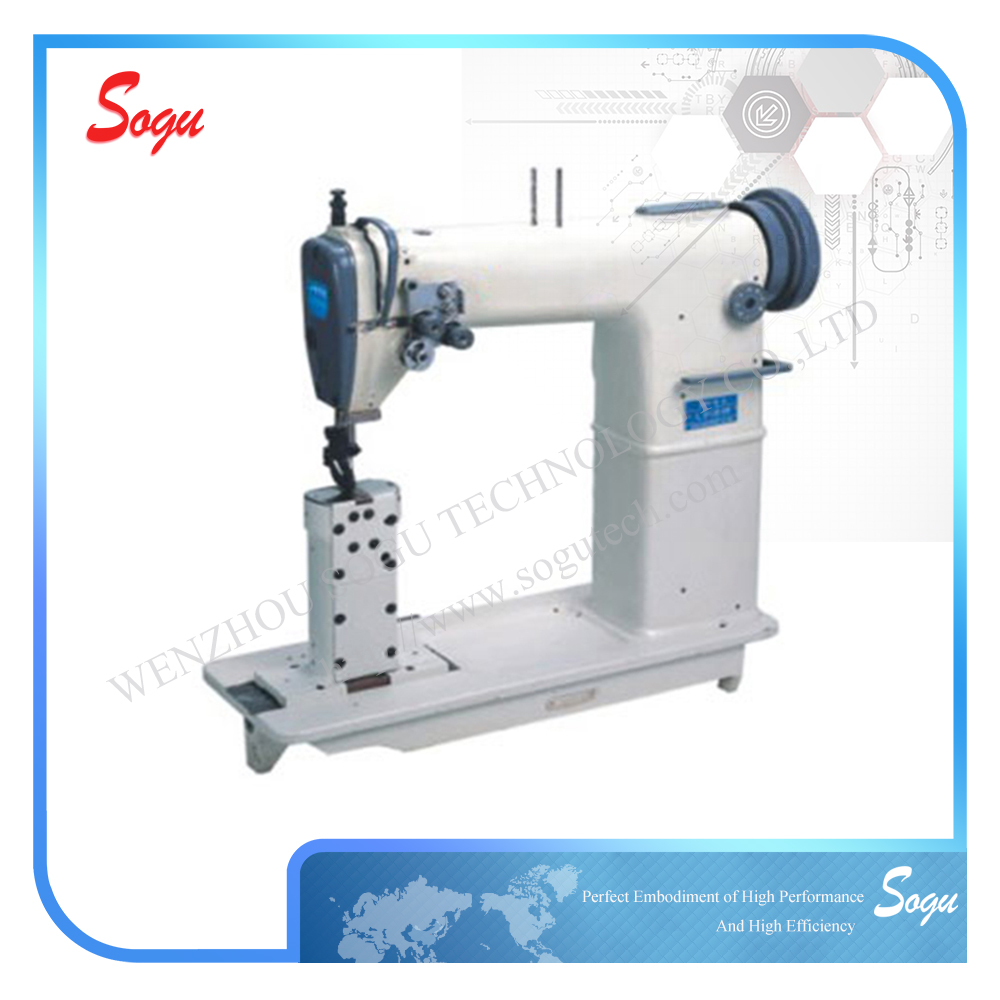 Xs0028 Double Needle Postbed Lockstitch Industrial Leather Sewing Machine