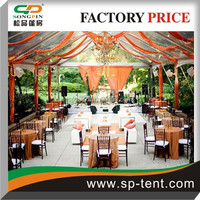 Luxury large prefab PVC fabric white wedding marquee tent for sale