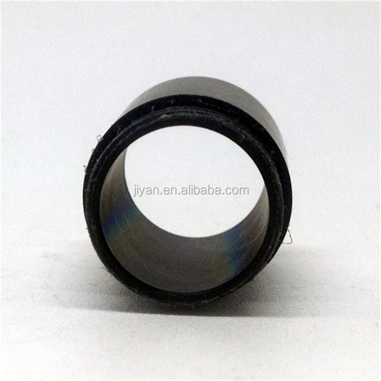 OEM precision CNC lathing  black delrin flanged plastic bushing