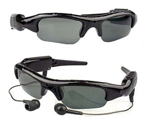 Hot Selling HD 720P Hidden Camera Bluetooth Sunglasses MP3 Player DVR Mini Camera Video Recorder Camera