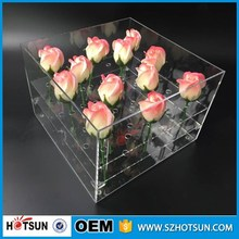 customized dependable performance plexiglass rose display stand clear acrylic flower box