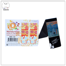 Souvenir Magnetic Bookmark Custom Paper Folding Bookmarks Magnetized