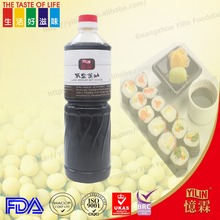 hot sale wholesale 1L Japanese style low sodium sushi Soy Sauce with OEM servise