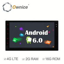 Ownice 4 Core Android 6.0 car Stereo for double din universal support TV OBD DAB GPS NAVI RADIO Built 4G LTE
