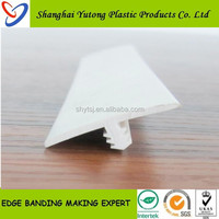 office furniture plastic soft rubber T molding edge trim for table soft edge trim