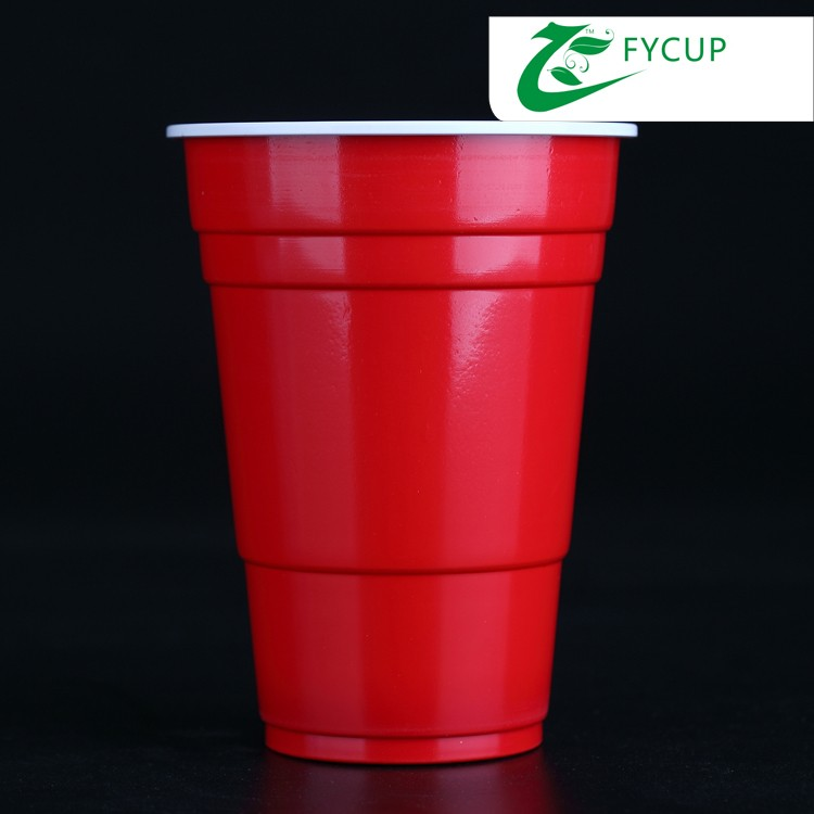 Customized Logo Red PS disposable plastic american cup, Solo cup, plastic party cup
