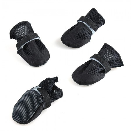 Pet Dog Mesh Shoes Boots Protective Booties Set of 4 M