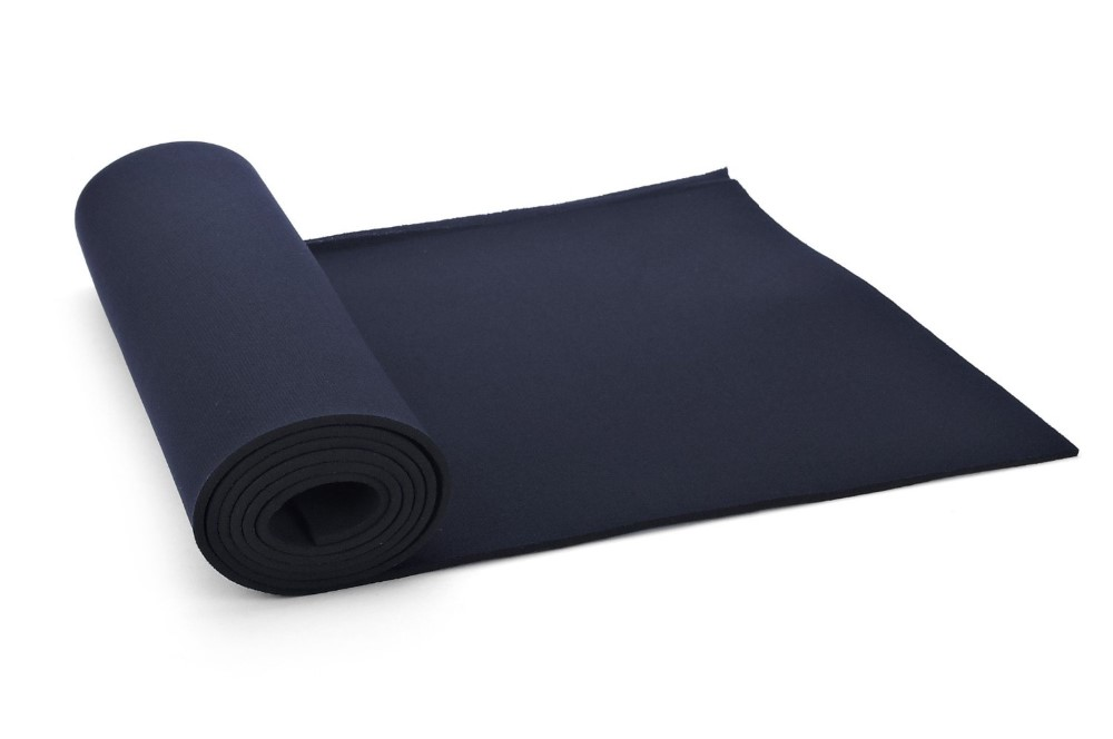 "Sponge Neoprene Roll Black Finished With Fabric For Multi Purpose Use 1/8"" Thick X 14"" Wide X 58"" Long"