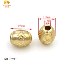 Hot new bracelet jewelry european metal zinc alloy bead with engraved logo