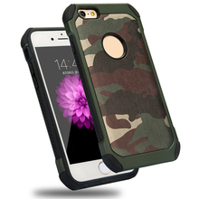 For Apple iPhone 4 2 in 1 Shockproof Design Hybrid Durable Camouflage Silicon +PC Phone Case Back Cover
