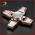 China Supplier High Quality Zinc Alloy Square Handle Hand Fidget Spinner Game Toy