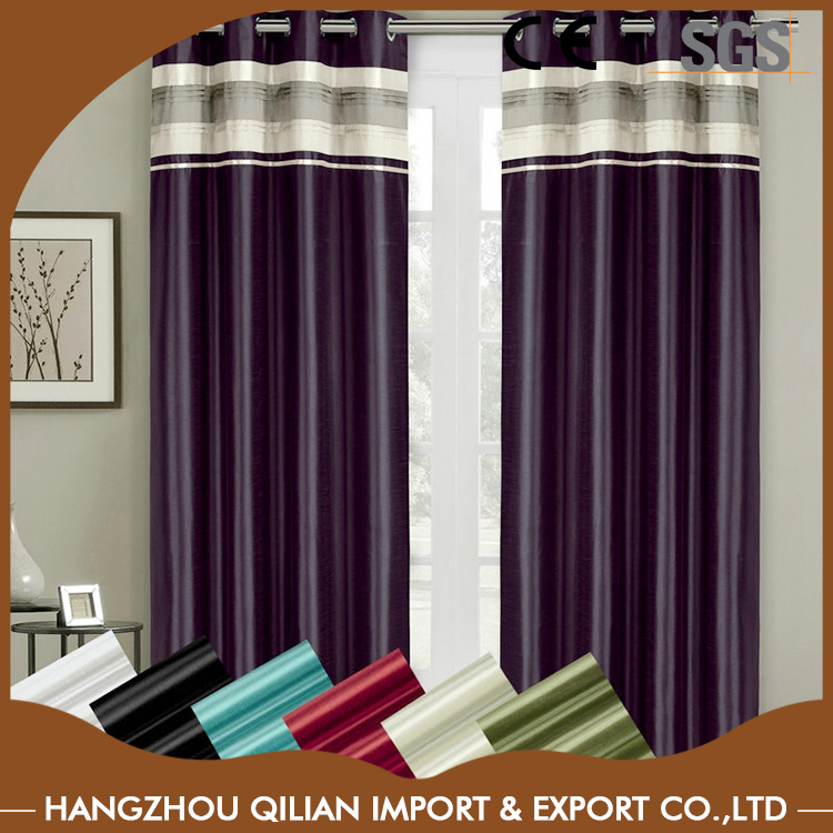 Faux Polyester Silk Lined Blackout Curtains with Grommets Single Panel