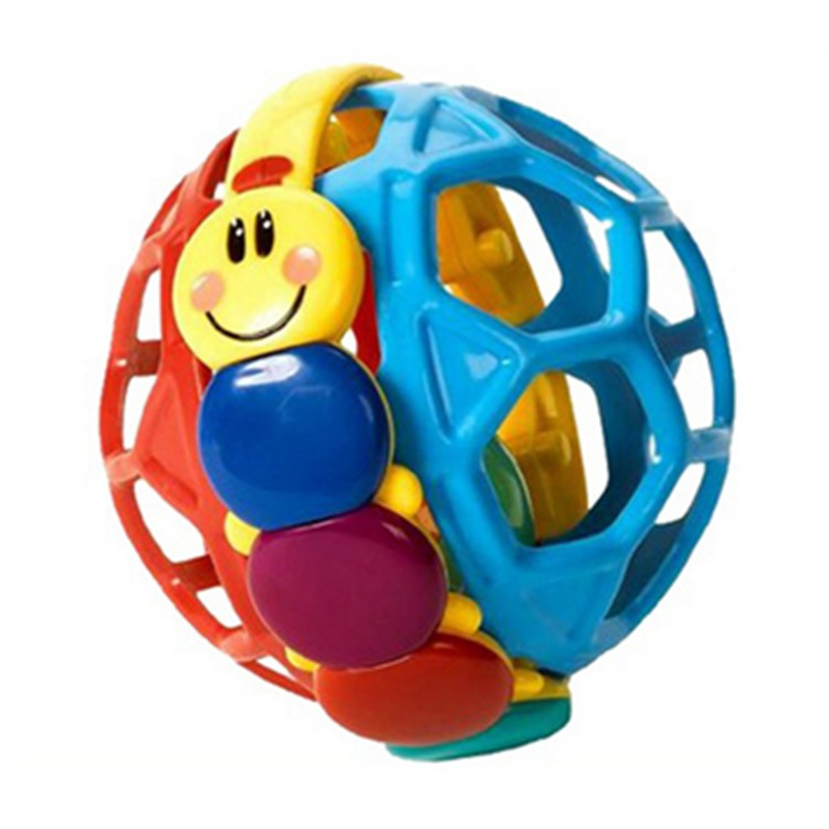 Early Educational Toy Ball Bendy Ball Plastic Baby Rattle