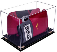Acrylic Double Boxing Glove Display Case with UV Protection