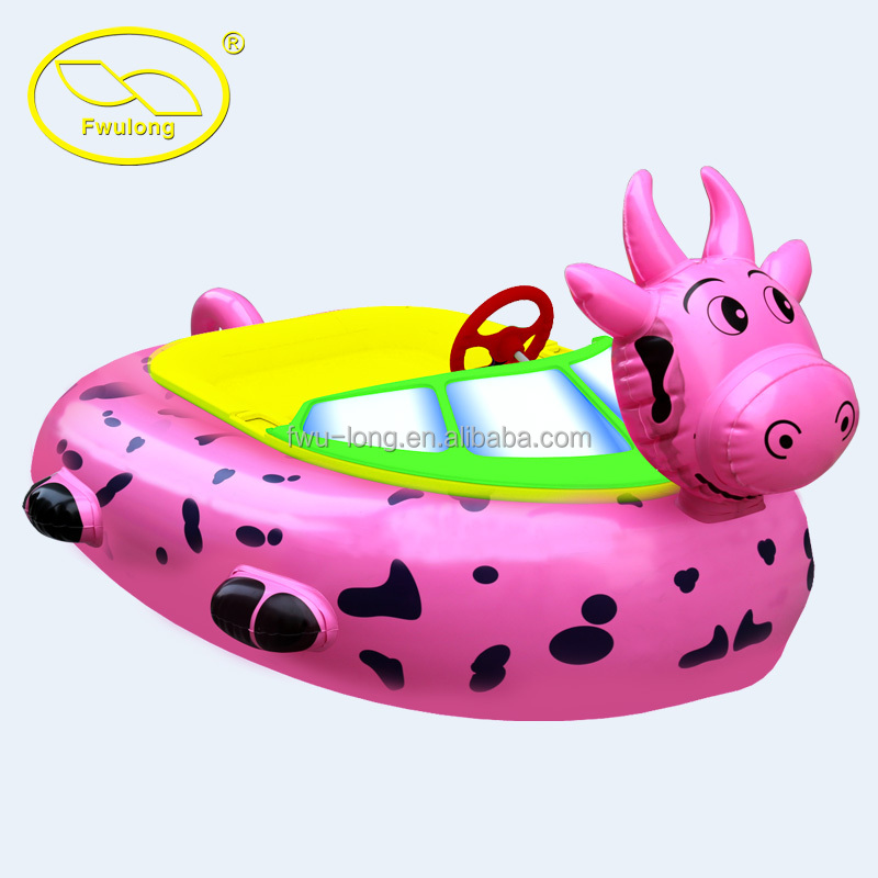 Fwulong animal style inflatable aqua boat for factory direct sale