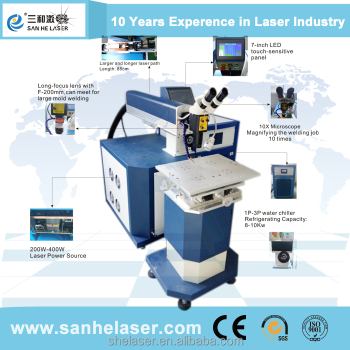 China manufacturer Laser welding machine for repairing mold with 0.6mm wires