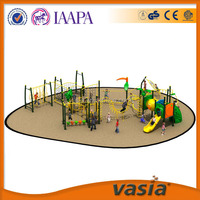 Outdoor equipment of plastic material of playground for children to play at schools