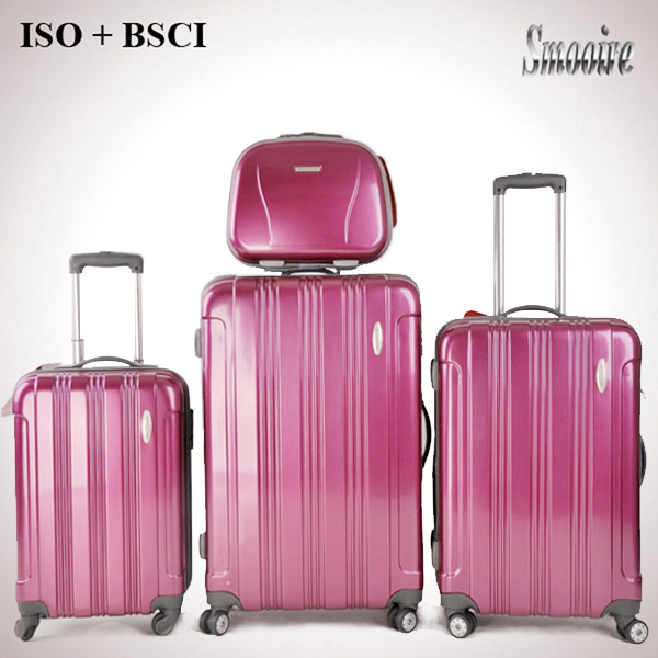 4 pieces popular pure PC hand lightweight luggage trolley