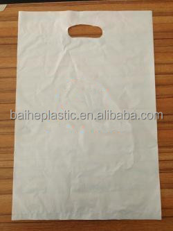 LDPE custom die cut handle bags manufacturer