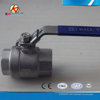 2 pc /2 piece stainless steel ball valve