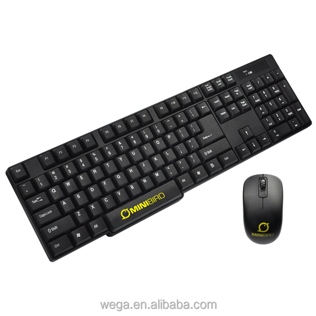 OEM customs logo 2.4ghz 3 buttons office PC use wireless mice combo mice and keyboard