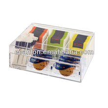 Acryl tea bag storage organizer