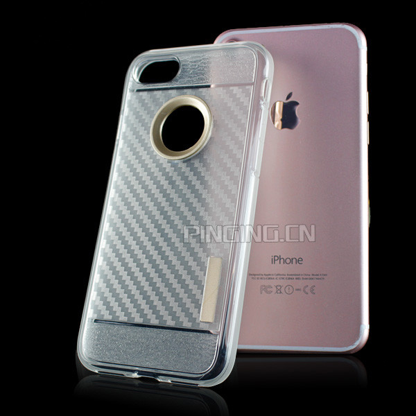 carbon fiber crystal transparent clear tpu case for iphone 6, for iphone 6 tpu case, for iphone 6 cover case smartphone