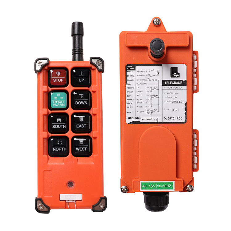 F21-E1B 6 channels <strong>1</strong> speed hoist crane wireless industrial remote controller
