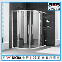 2015 mirror finish 6mm Tempered Glass tap water mixer shower cabin