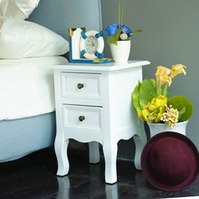 Hot Sale Classical Designs Ivory White Bedside Table