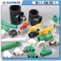 HAMBER hdpe upvc polyethylene plastic pvc pipe fitting pe ppr pipe and fitting ppr pipe fitting tools ppr fitting manufacturer