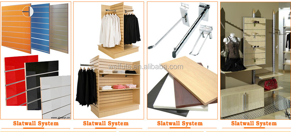 Hot-selling mdf slat board for store displays