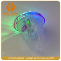 led flashing finger diamond ring