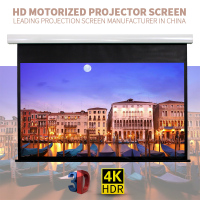 HD movie screen projection /portable electric projector screen matte white/silver fabric