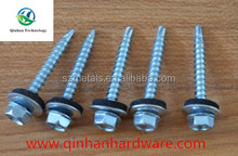 indented hexagon drilling screw with rubber washer