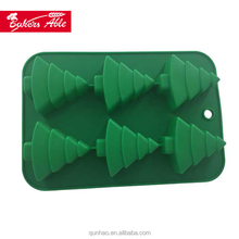 100% Food Grade6 holes Christmas Tree Silicon Mold Silicon Chocolate Mould