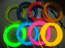 EL flashing rgb wire/ flexible neon led wire wholesalee