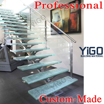 Glass Banister Staircase ,glass Stair Treads