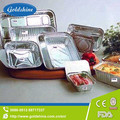 Disposable household aluminum foil tray for food packing