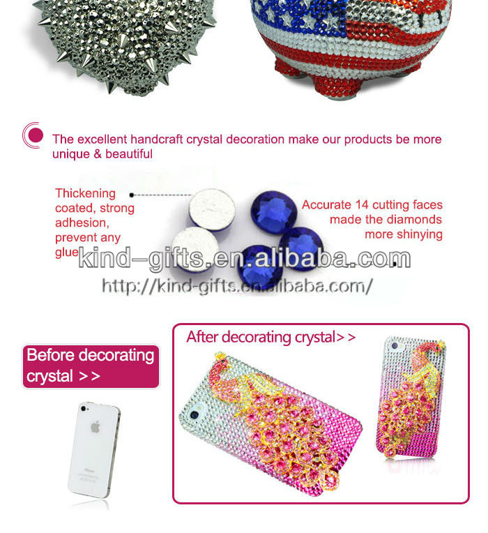 Hot Sale Christmas Gift Bling Rhinestone Pink Piggy Bank With Crystal China Supplier