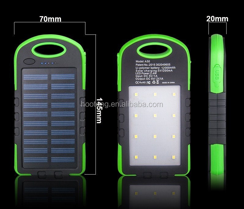 12 camping lights polar power bank waterproof two usb 5000mah