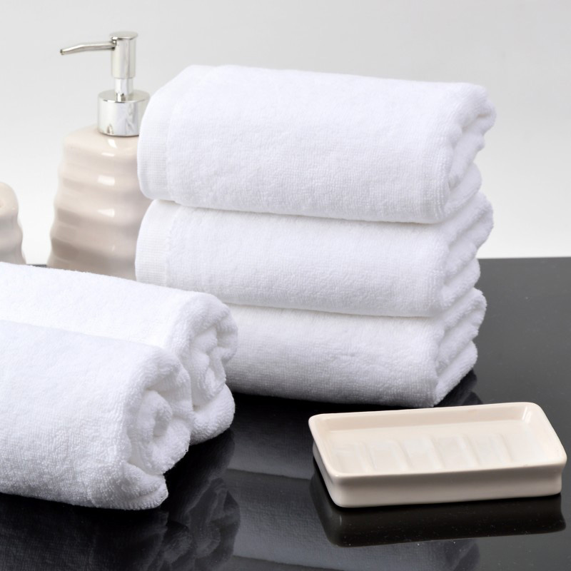 Terry White Egyptian Cotton Hotel Bath Towel