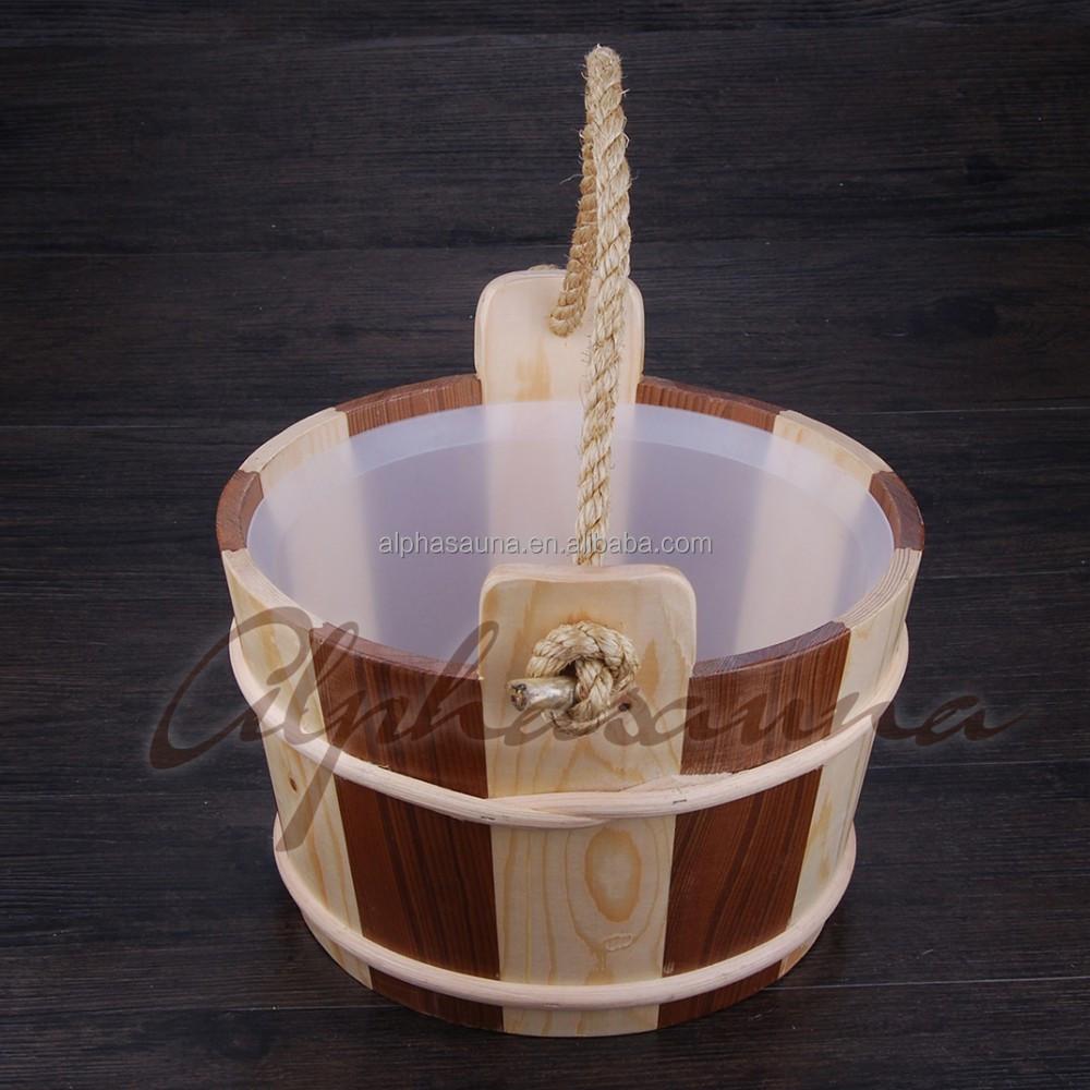 Artesan a sauna agua cubo y cuchar n de sauna accesorios salas de sauna identificaci n del - Accesorios para saunas ...