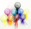 Color Yarn Transparent Latex Balloon For