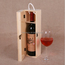 LINEX factory price free sample wood single bottle wine gift box