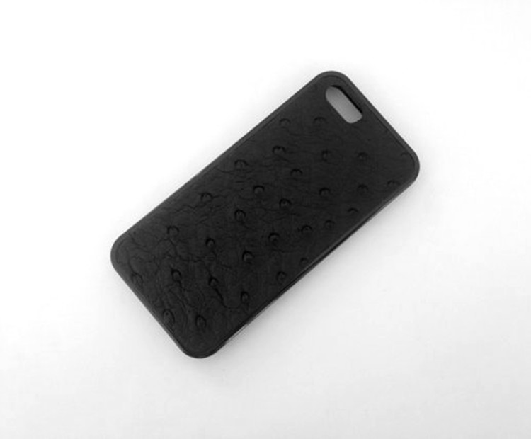 Genuine Leather Case for Apple Ostrich Leather Case for iphone 5/5s Luxury Cell Phone Cases