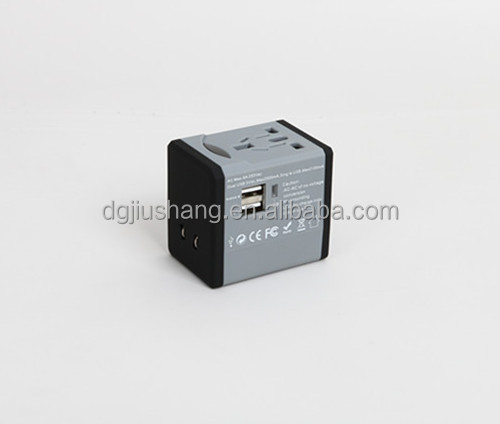 Universal International AU US UK EU Plug Adapter All in One 2 USB Port World Travel AC Power Charger Adaptor