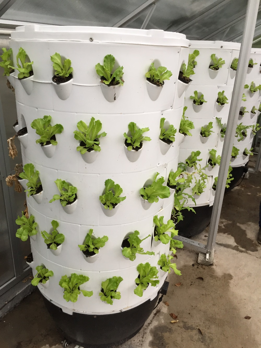 70pcs hydroponics system aeroponic tower garden for for Vertical garden tower