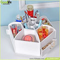 2015 NEW spinning rotating wooden cosmetic makeup organizer box